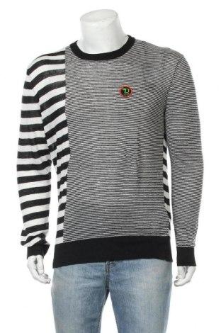 Ανδρικό πουλόβερ Diesel, Μέγεθος M, Χρώμα Μαύρο, Λινό, Τιμή 12,53€