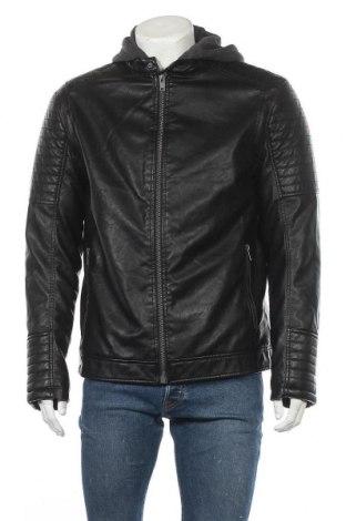 Ανδρικό δερμάτινο μπουφάν Montego, Μέγεθος L, Χρώμα Μαύρο, Δερματίνη, Τιμή 35,36€
