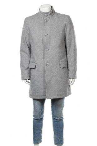 Мъжко палто, Размер L, Цвят Сив, 85% полиестер, 10% вълна, 5% други тъкани, Цена 56,76лв.