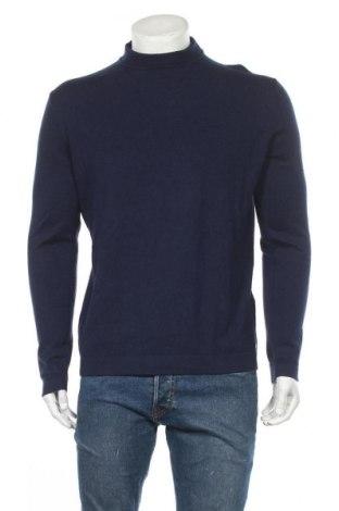 Ανδρικό πουλόβερ Tom Tailor, Μέγεθος XL, Χρώμα Μπλέ, 95% βαμβάκι, 5% ελαστάνη, Τιμή 16,73€