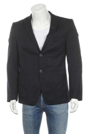 Мъжко сако Bruuns Bazaar, Размер L, Цвят Син, 54% полиестер, 45% вълна, 1% еластан, Цена 15,31лв.