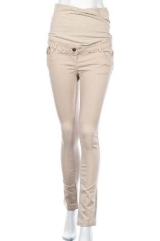 Maternity pants Vertbaudet, Μέγεθος M, Χρώμα  Μπέζ, 62% βαμβάκι, 36% πολυεστέρας, 2% ελαστάνη, Τιμή 17,28€