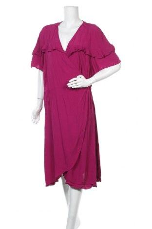 Φόρεμα City Chic, Μέγεθος 3XL, Χρώμα Ρόζ , 52% βισκόζη, 48% πολυεστέρας, Τιμή 17,54€