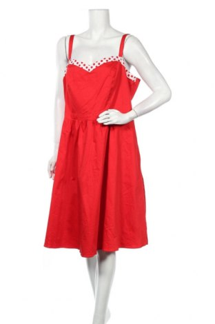 Φόρεμα City Chic, Μέγεθος 3XL, Χρώμα Κόκκινο, 98% βαμβάκι, 2% ελαστάνη, Τιμή 29,88€