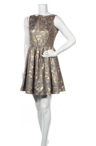 Рокля Cynthia Rowley, Размер S, Цвят Сив, 48% памук, 37% полиамид, 15% метални нишки, Цена 75,81лв.