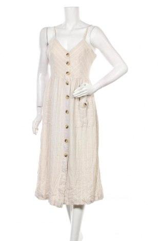 Šaty  Indigo Rein, Velikost S, Barva Béžová, 55% len, 45% viskóza, Cena  530,00Kč