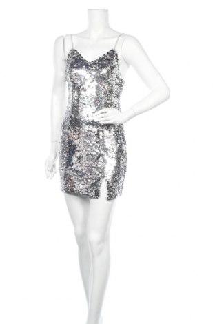 Φόρεμα Na-Kd, Μέγεθος S, Χρώμα Ασημί, Πολυεστέρας, Τιμή 26,63€
