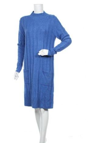 Rochie Tom Tailor, Mărime M, Culoare Albastru, 46%acril, 27% poliamidă, 14% viscoză, 10% lână, 3% elastan, Preț 55,16 Lei