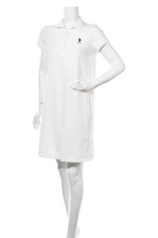 Рокля U.S. Polo Assn., Размер L, Цвят Бял, 95% памук, 5% еластан, Цена 38,22лв.