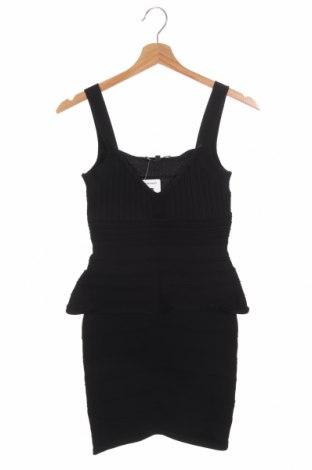 Рокля Wow Couture, Размер XS, Цвят Черен, 65% вискоза, 35% полиамид, Цена 8,40лв.