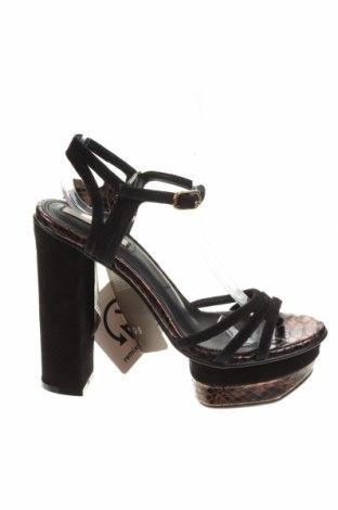 Σανδάλια H&M, Μέγεθος 37, Χρώμα Μαύρο, Φυσικό σουέτ, Τιμή 16,42€