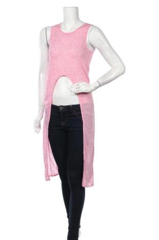 Γυναικείο αμάνικο μπλουζάκι Vert De Rage, Μέγεθος M, Χρώμα Ρόζ , 85% πολυεστέρας, 15% λινό, Τιμή 9,94€
