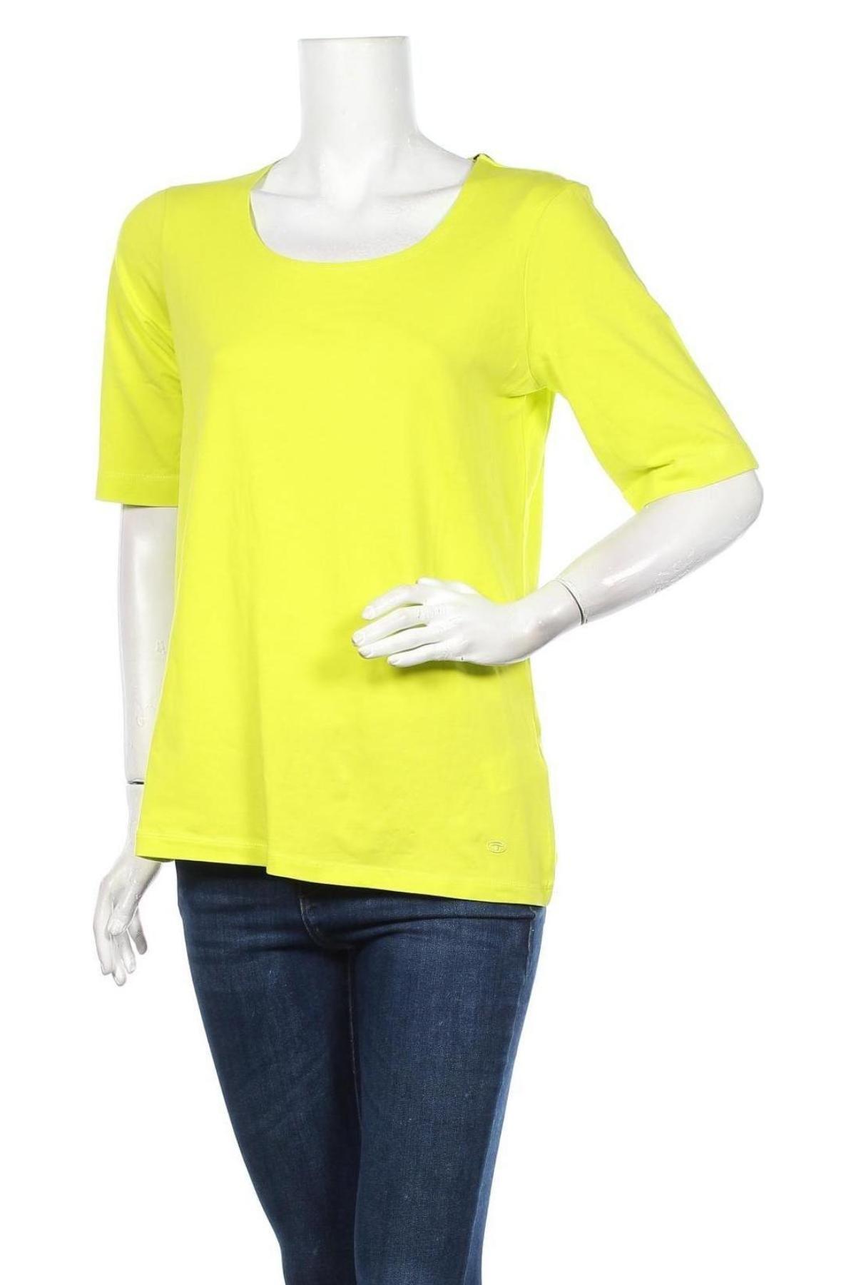 Γυναικεία μπλούζα Tom Tailor, Μέγεθος XL, Χρώμα Πράσινο, 95% βαμβάκι, 5% ελαστάνη, Τιμή 16,24€