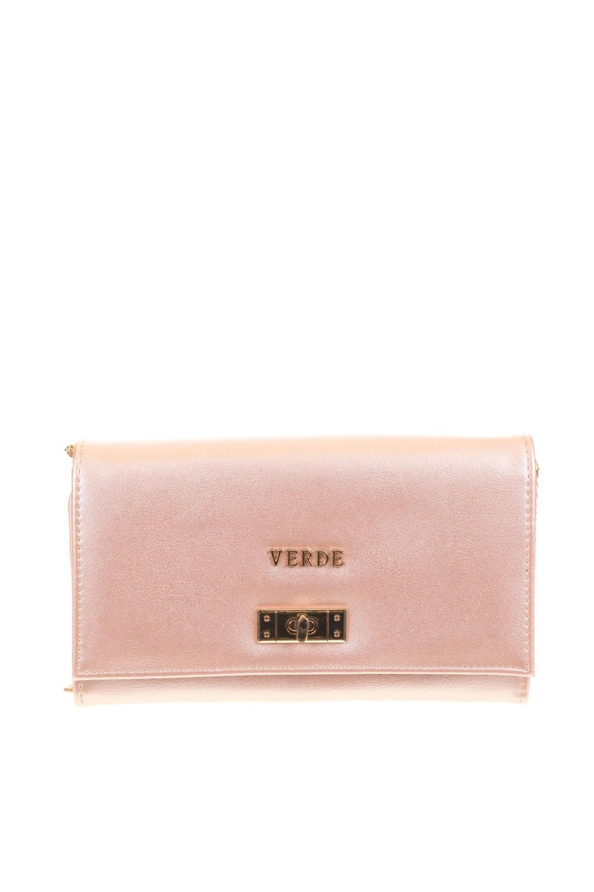 Дамска чанта Verde, Цвят Розов, Еко кожа, Цена 11,80лв.