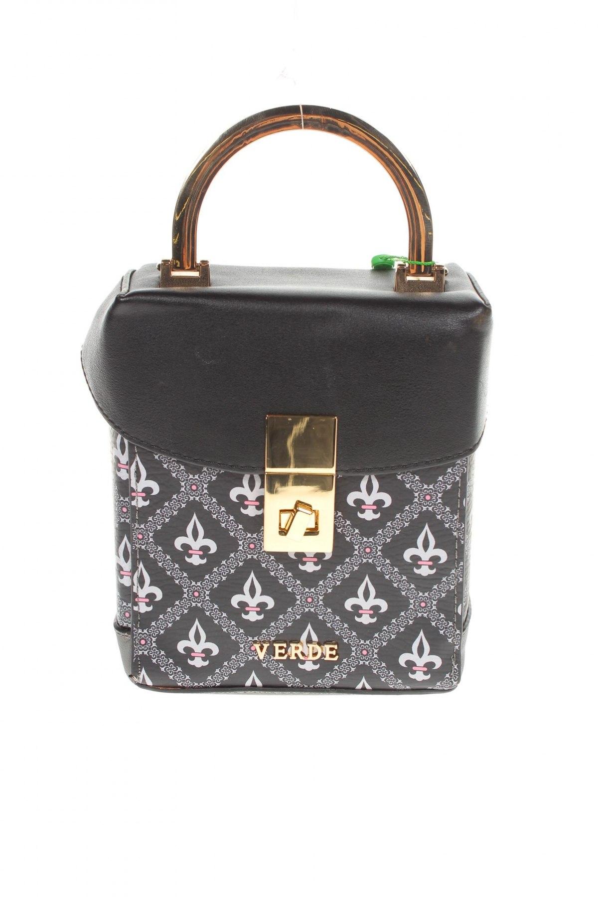 Дамска чанта Verde, Цвят Черен, Еко кожа, Цена 15,80лв.