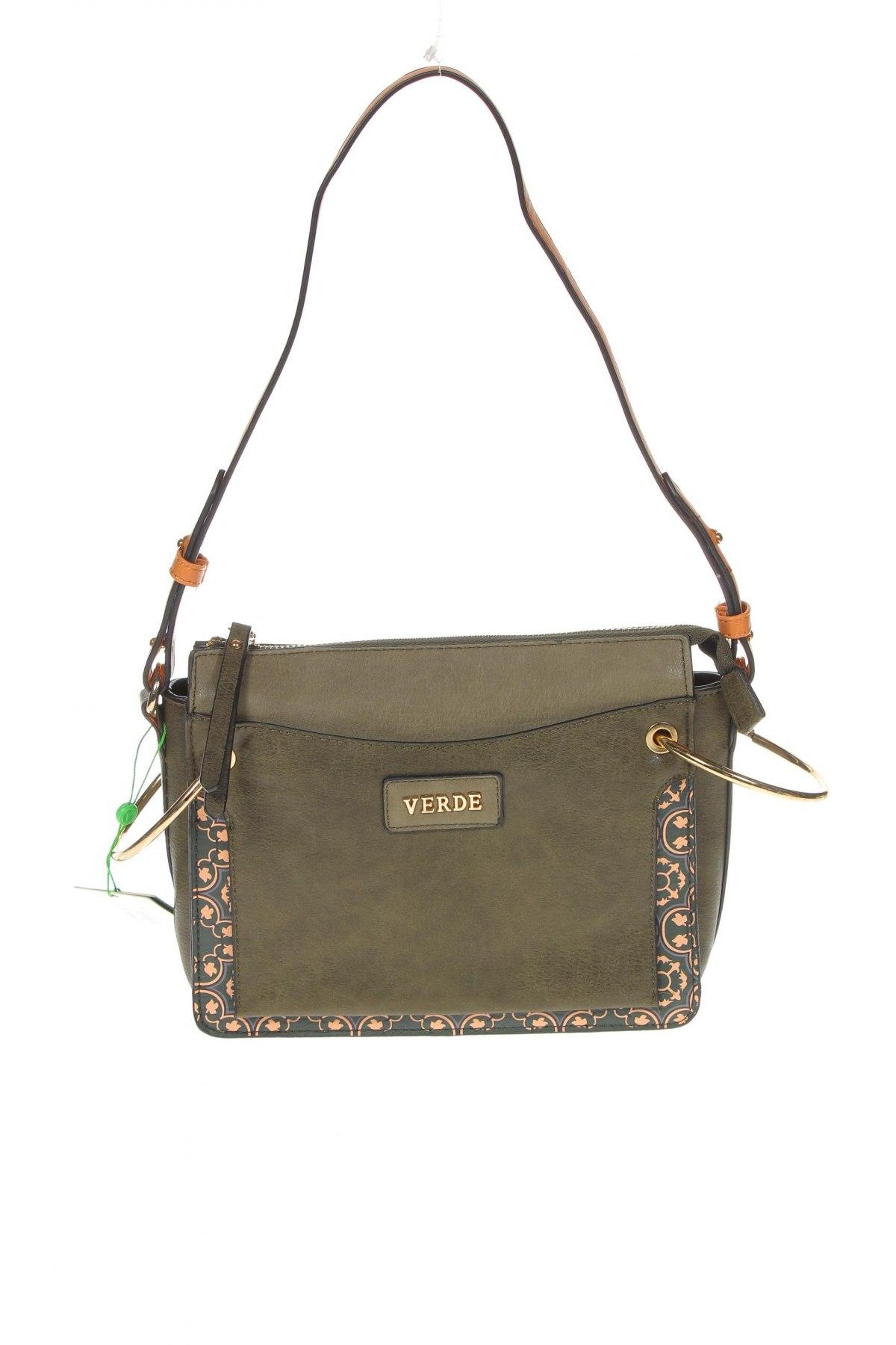Дамска чанта Verde, Цвят Зелен, Еко кожа, Цена 59,25лв.