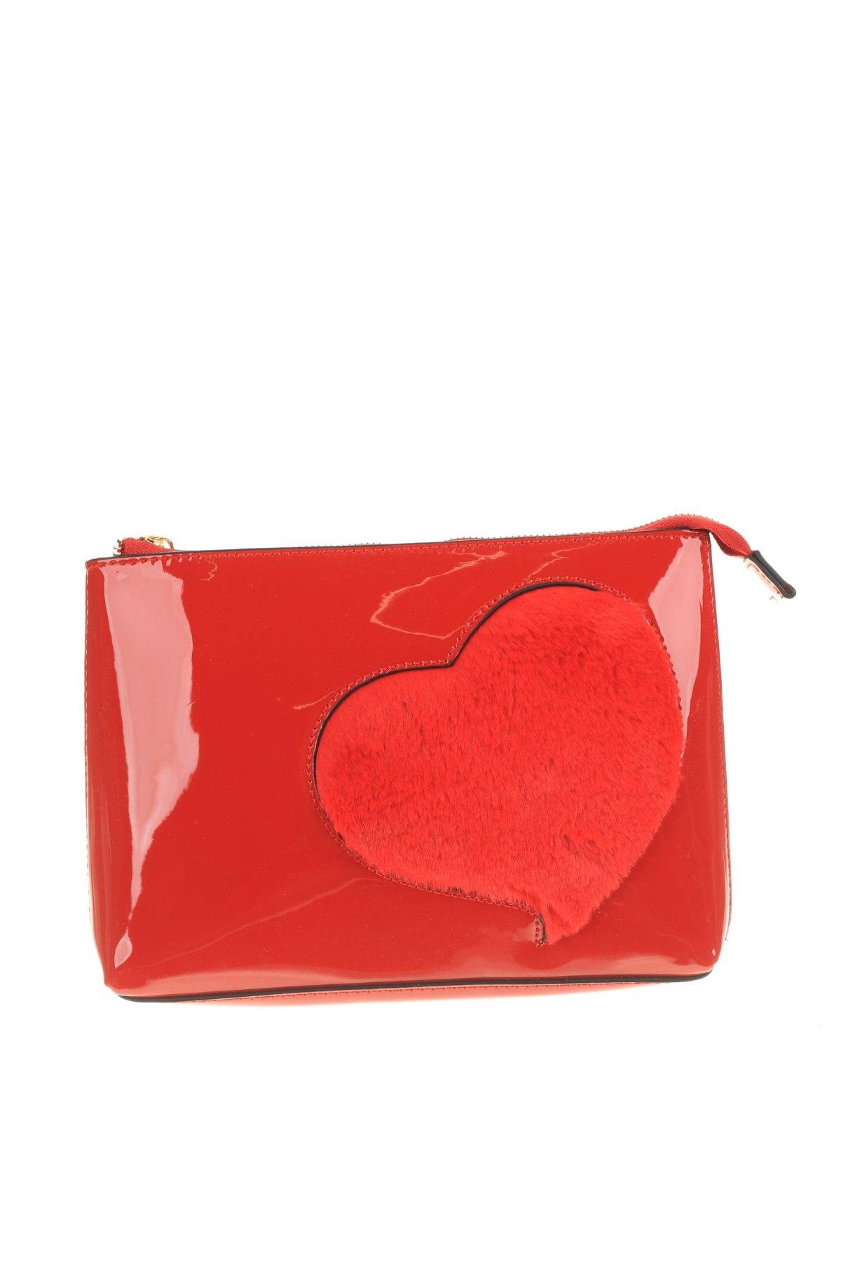 Дамска чанта Verde, Цвят Червен, Еко кожа, текстил, Цена 10,62лв.