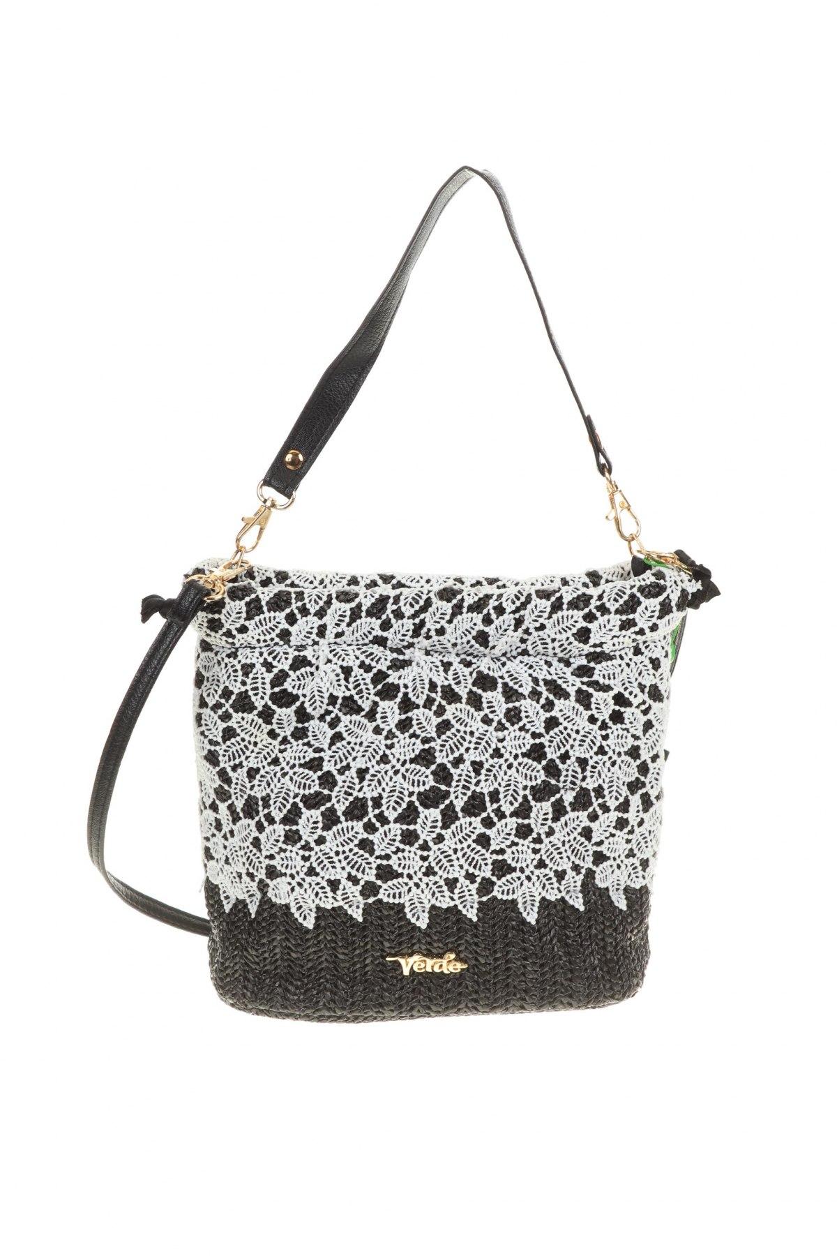 Дамска чанта Verde, Цвят Бял, Текстил, Цена 30,02лв.
