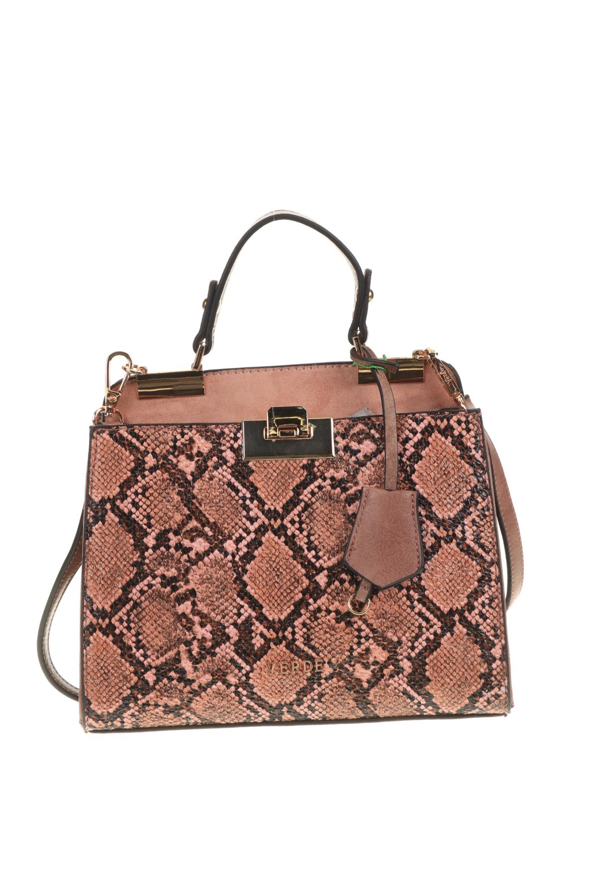 Дамска чанта Verde, Цвят Пепел от рози, Еко кожа, Цена 42,72лв.