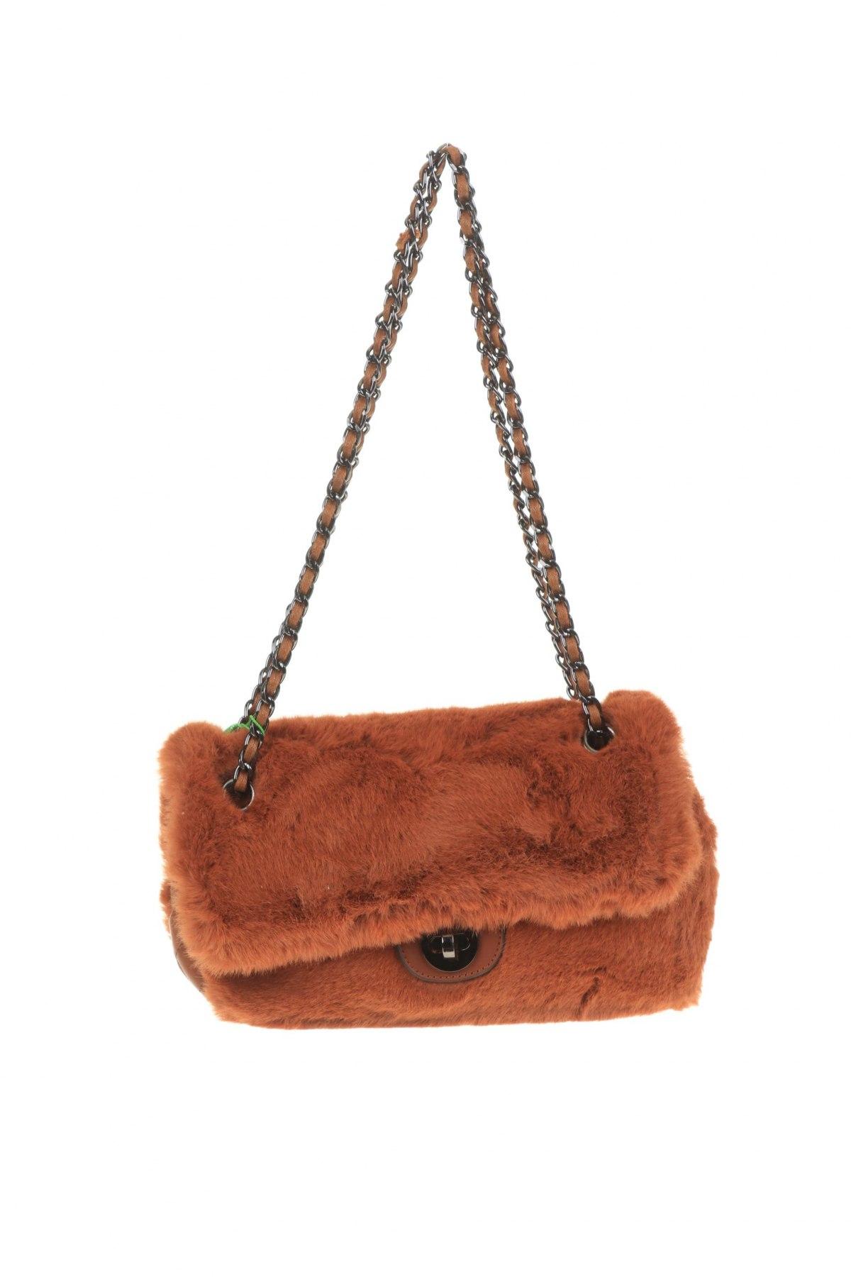 Дамска чанта Verde, Цвят Кафяв, Текстил, Цена 11,73лв.