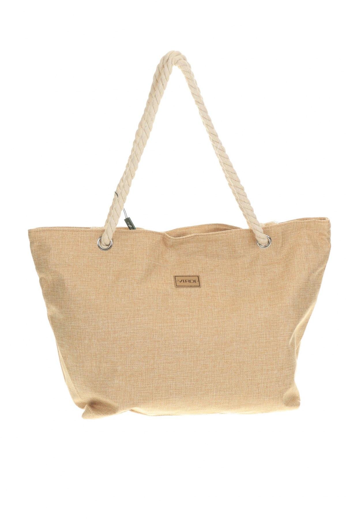 Дамска чанта Verde, Цвят Бежов, Текстил, Цена 33,12лв.