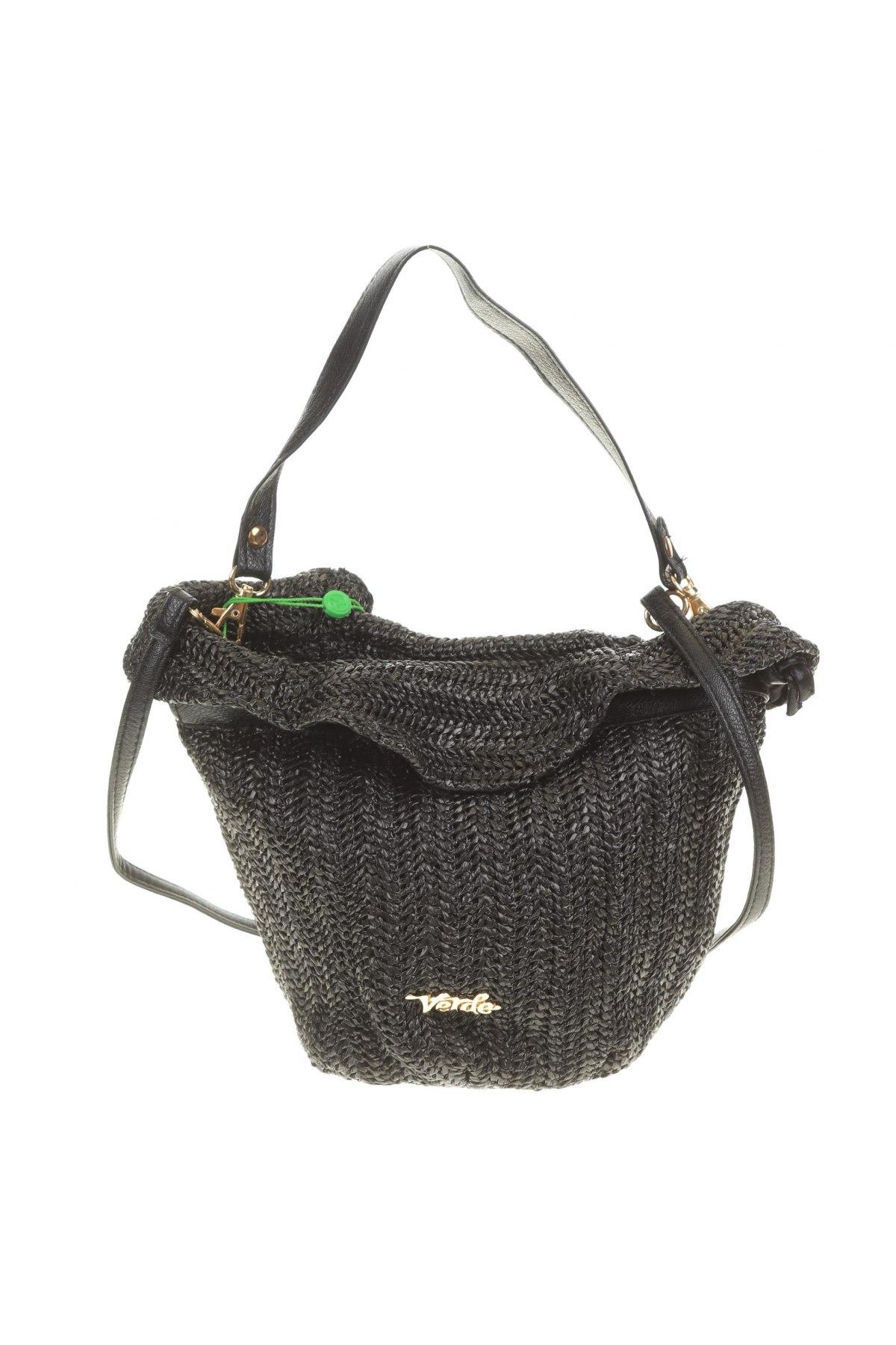 Дамска чанта Verde, Цвят Черен, Текстил, Цена 10,35лв.