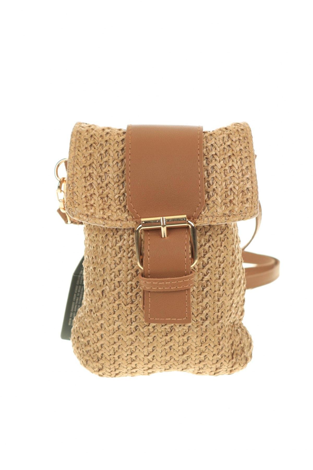 Дамска чанта Verde, Цвят Бежов, Текстил, Цена 21,60лв.