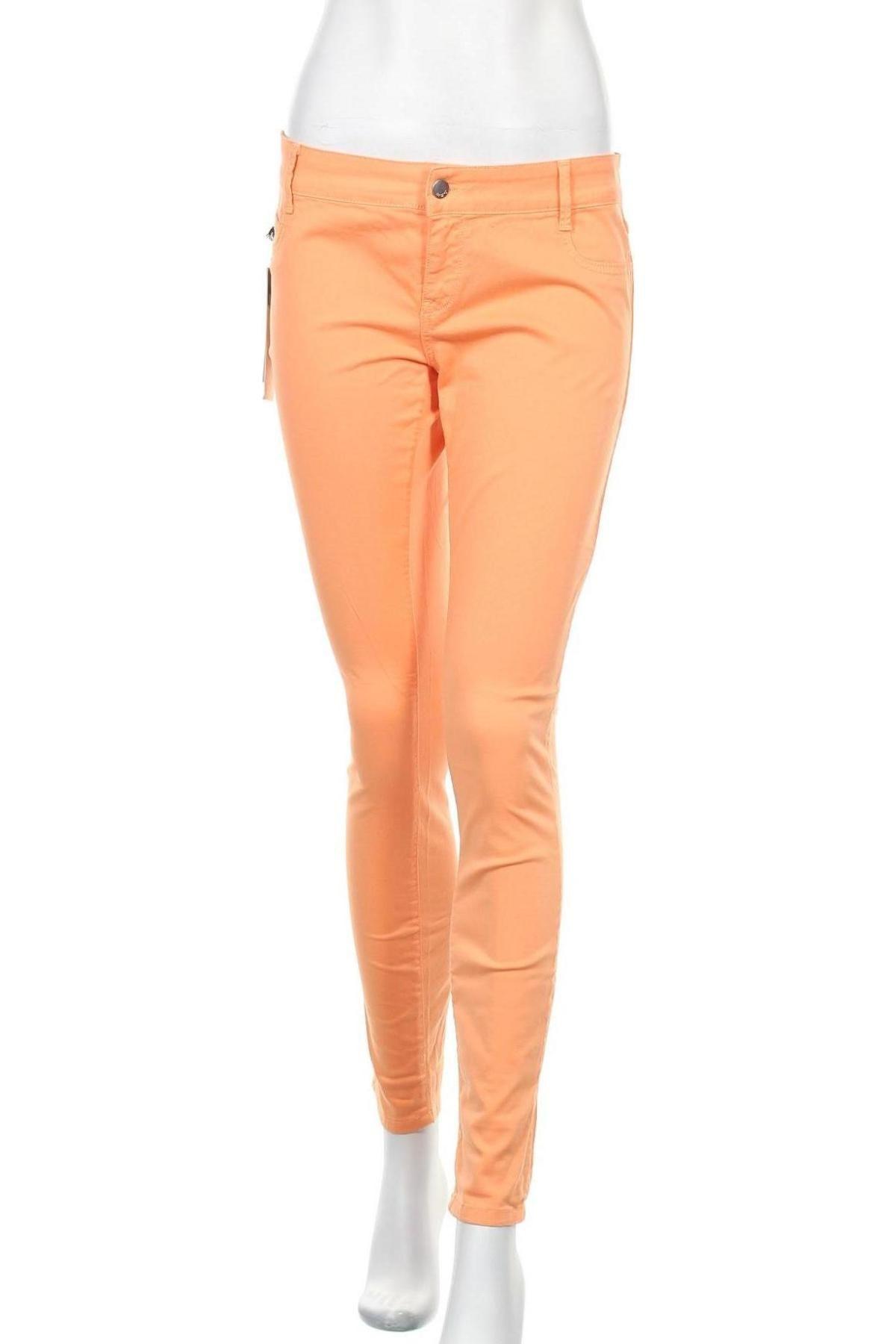 Дамски дънки Met, Размер M, Цвят Оранжев, 98% памук, 2% еластан, Цена 66,75лв.