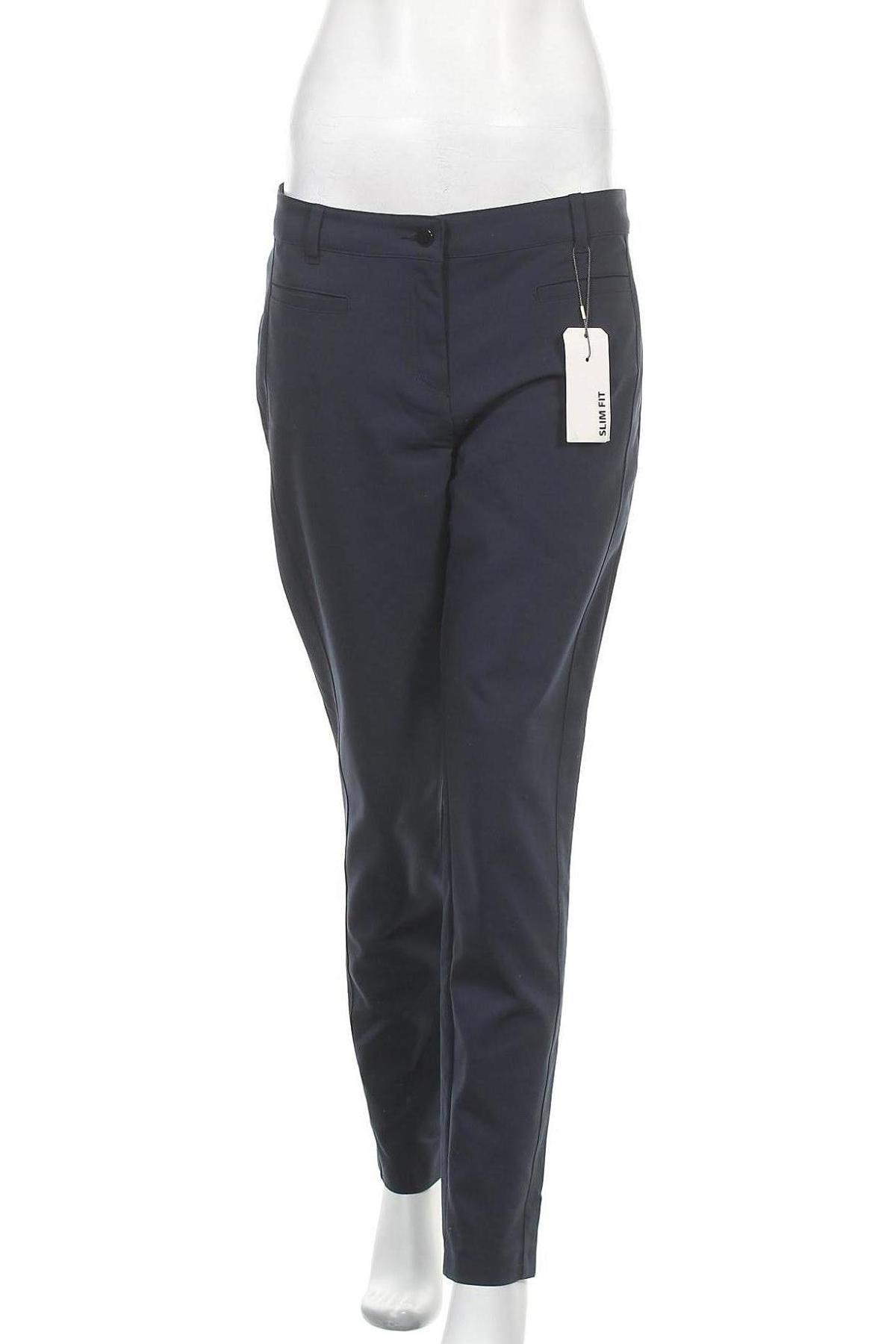 Дамски панталон Christian Berg, Размер M, Цвят Син, 53% памук, 44% полиестер, 3% еластан, Цена 51,75лв.