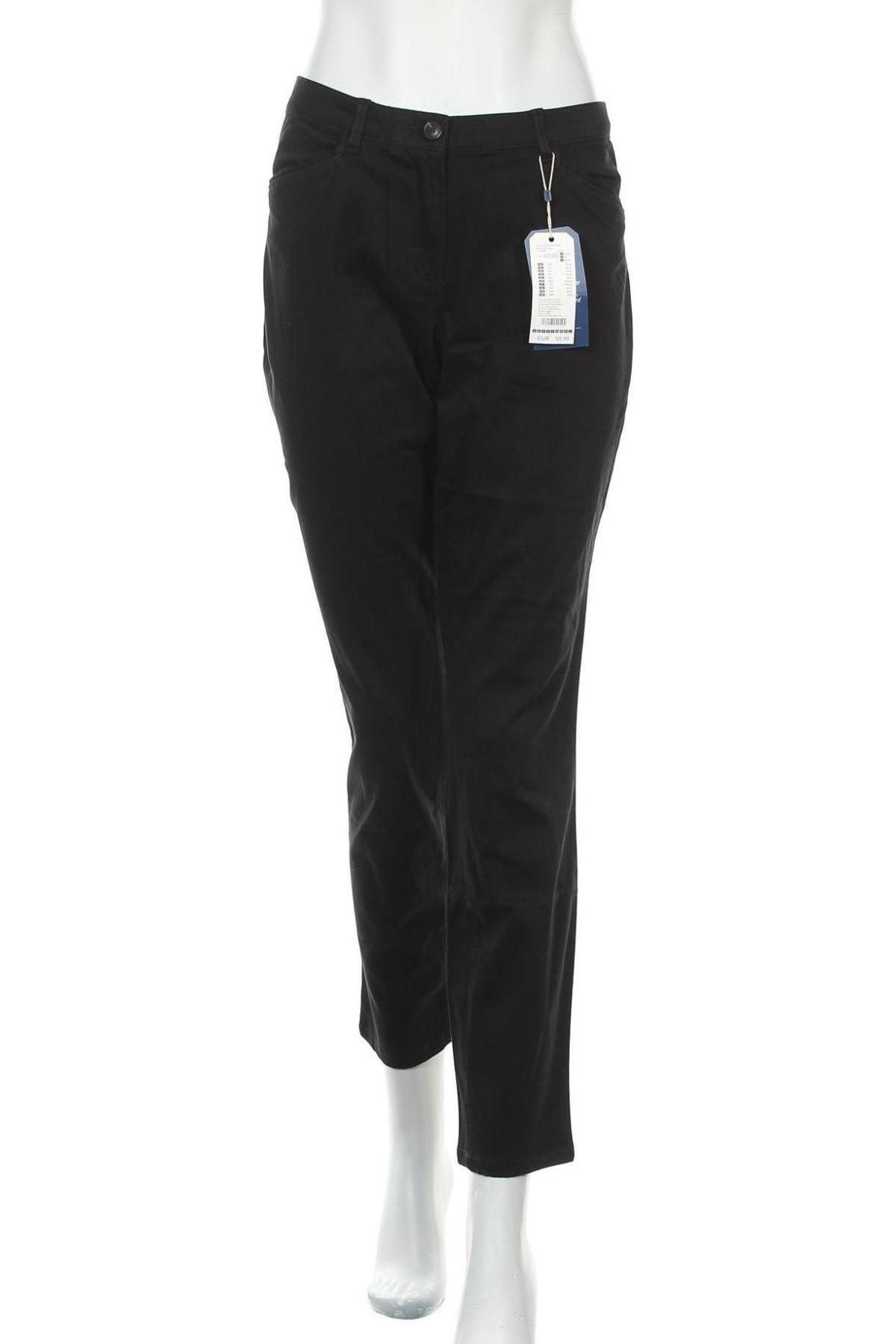 Γυναικείο παντελόνι Tom Tailor, Μέγεθος L, Χρώμα Μαύρο, 50% βαμβάκι, 47% μοντάλ, 3% ελαστάνη, Τιμή 26,68€