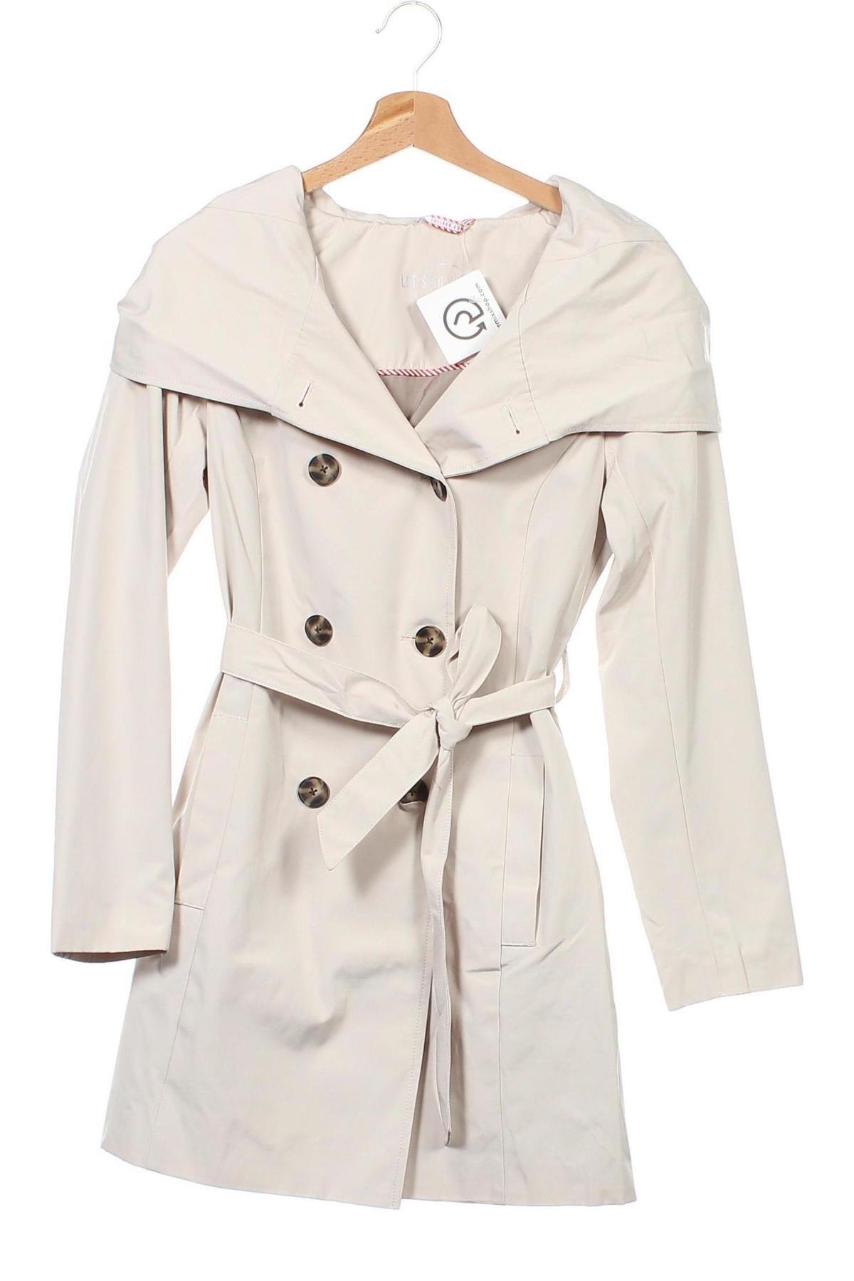 Дамски шлифер S.Oliver, Размер XS, Цвят Бежов, 82% полиестер, 18% памук, Цена 134,25лв.