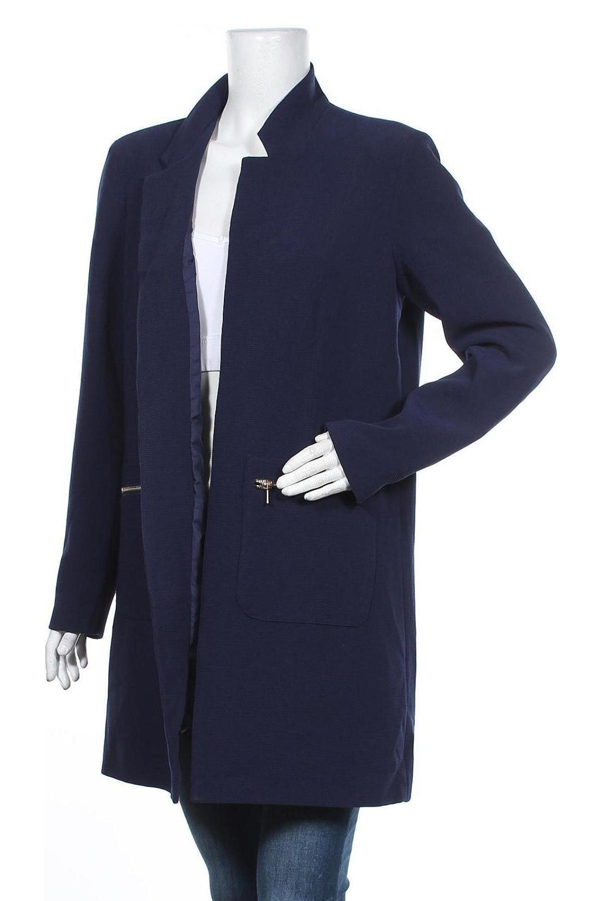 Дамско палто ONLY, Размер XL, Цвят Син, 97% полиестер, 3% еластан, Цена 69,00лв.