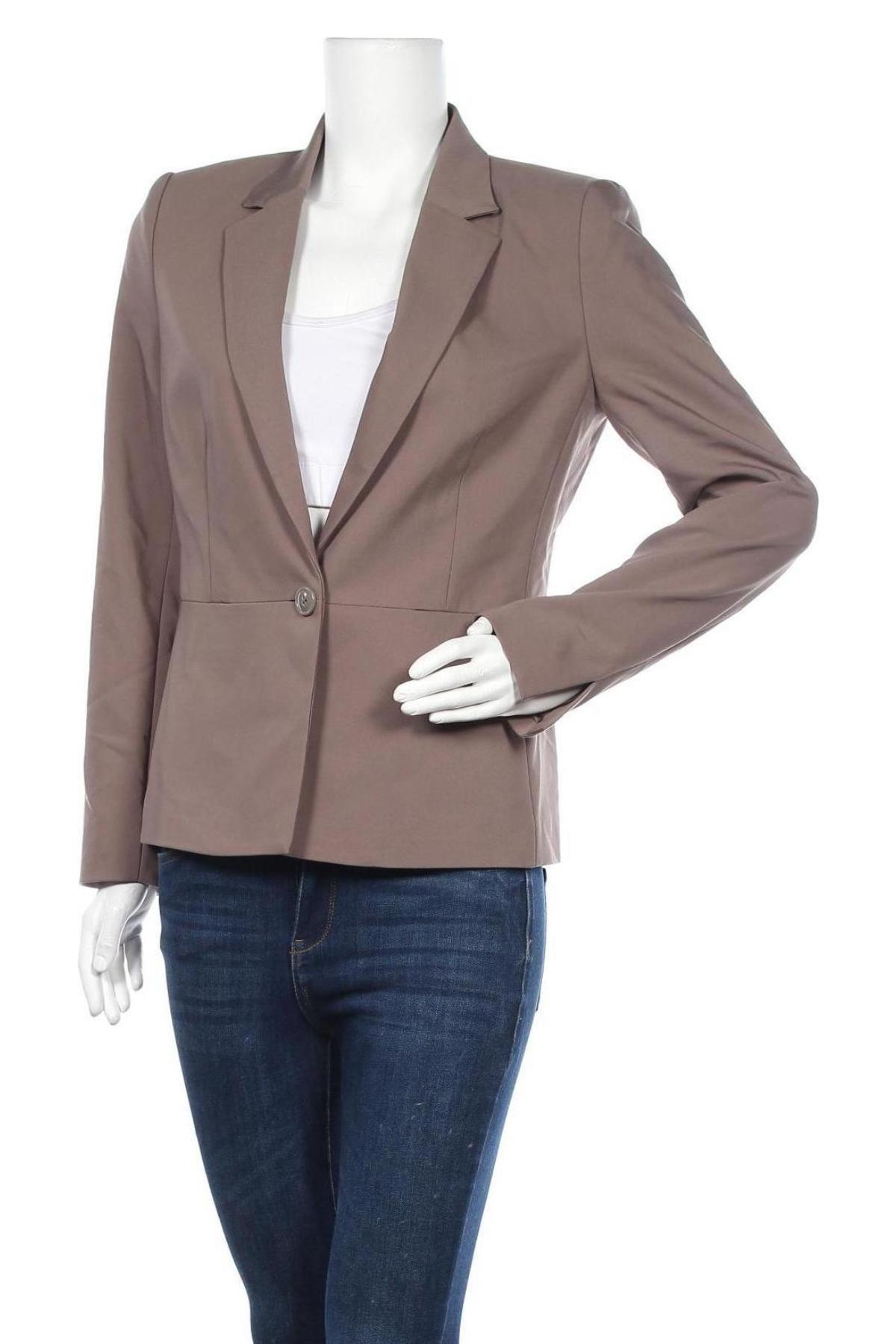 Дамско сако In Wear, Размер M, Цвят Сив, 51% памук, 45% полиестер, 4% еластан, Цена 141,75лв.