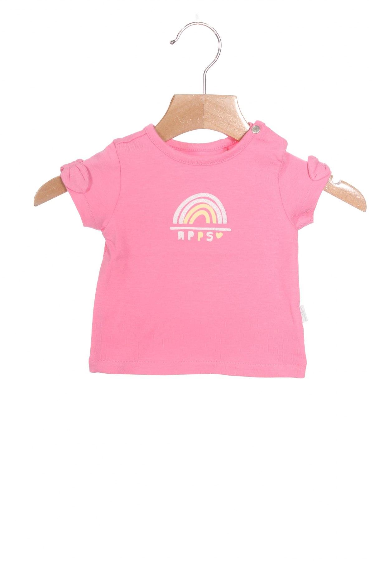Детска блуза Noppies, Размер 2-3m/ 56-62 см, Цвят Розов, 95% памук, 5% еластан, Цена 21,00лв.