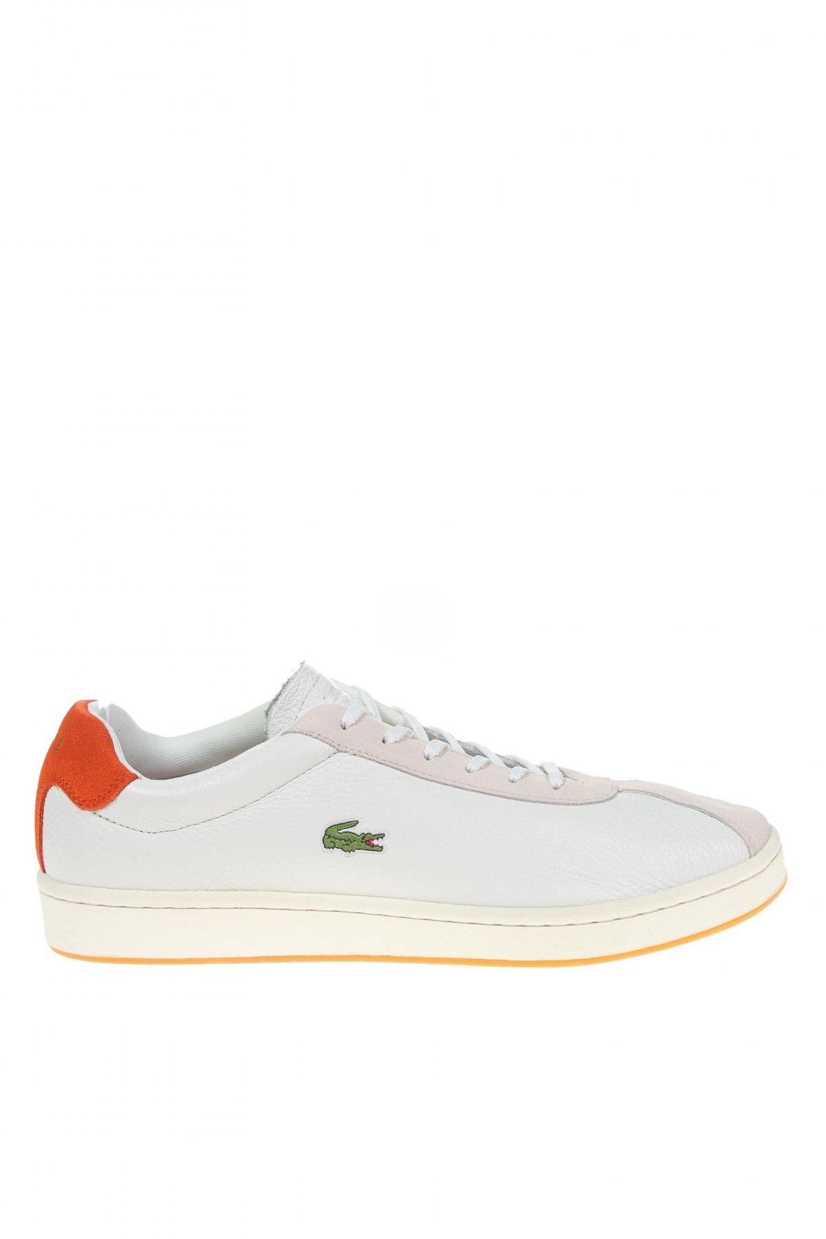 Мъжки обувки Lacoste, Размер 43, Цвят Бял, Естествена кожа, Цена 141,75лв.