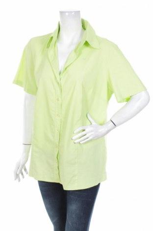 Γυναικείο πουκάμισο In Linea, Μέγεθος XL, Χρώμα Πράσινο, 67% βαμβάκι, 30% πολυεστέρας, 3% ελαστάνη, Τιμή 11,75€