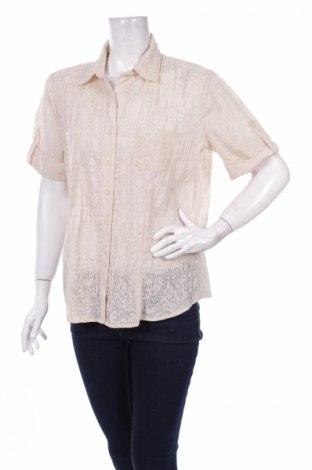 Γυναικείο πουκάμισο Malva, Μέγεθος L, Χρώμα  Μπέζ, 55% βαμβάκι, 45% πολυεστέρας, Τιμή 3,39€