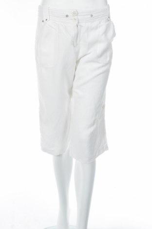 Дамски панталон Larry Levine, Размер S, Цвят Бял, 55% лен, 45% вискоза, Цена 7,60лв.