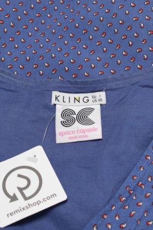 Τουνίκ Kling, Μέγεθος XS, Χρώμα Μπλέ, Βισκόζη, Τιμή 3,25€