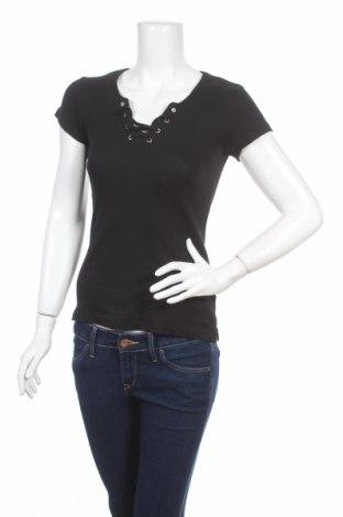Дамска блуза Fb Sister, Размер XS, Цвят Черен, 95% памук, 5% еластан, Цена 5,25лв.