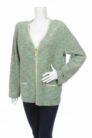 Дамска жилетка Gina Laura, Размер XL, Цвят Зелен, 60% полиестер, 40% памук, Цена 7,75лв.