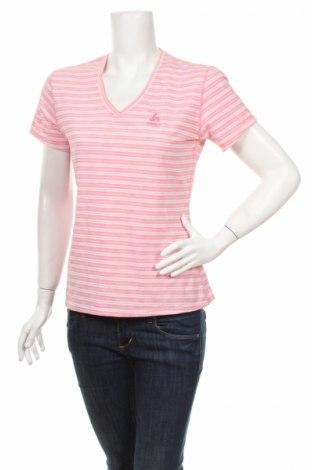 Дамска тениска Odlo, Размер M, Цвят Многоцветен, 49% полиестер, 38% полиамид, 13% еластан, Цена 4,50лв.