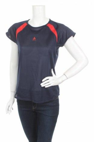 Дамска тениска Odlo, Размер M, Цвят Син, 100% полиестер, Цена 4,50лв.
