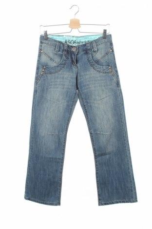 Дамски дънки Asos, Размер XS, Цвят Син, 70% памук, 30% полиестер, Цена 11,25лв.