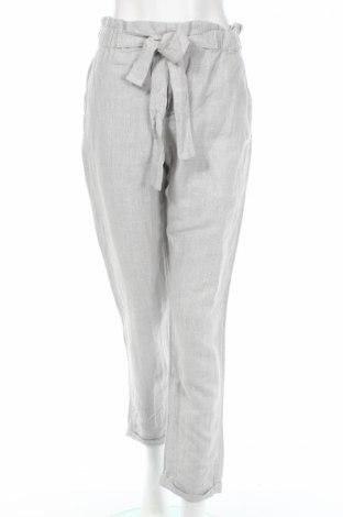 Γυναικείο παντελόνι Mango, Μέγεθος M, Χρώμα Γκρί, 50% λινό, 42% βαμβάκι, 8% πολυεστέρας, Τιμή 15,59€