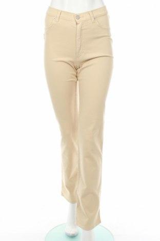 Дамски панталон PLOUMANAC'H, Размер M, Цвят Бежов, 98% памук, 2% еластан, Цена 27,08лв.