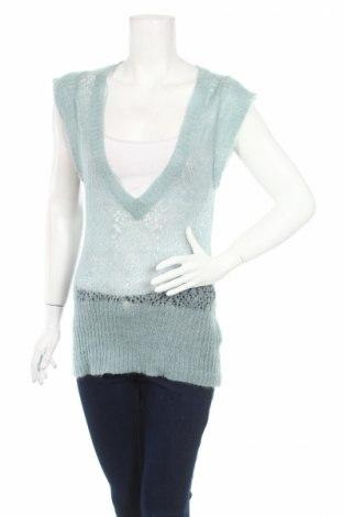 Дамски пуловер, Размер L, Цвят Зелен, 49% акрил, 26% мохер, 25% полиамид, Цена 6,40лв.