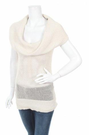 Дамски пуловер Cache, Размер S, Цвят Бежов, 73% коприна, 18% памук, 6% полиестер, 3% други тъкани, Цена 10,36лв.