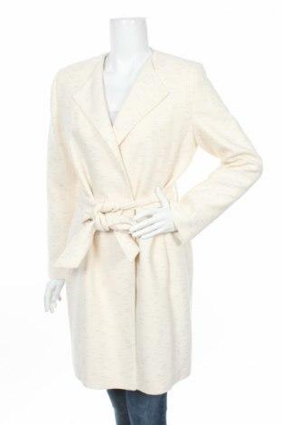 Дамско палто Pietro Filipi, Размер L, Цвят Бежов, 90% памук, 7% полиестер, 3% метални нишки, Цена 137,60лв.