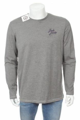Мъжка блуза Core By Jack & Jones, Размер L, Цвят Сив, 73% памук, 27% полиестер, Цена 34,45лв.